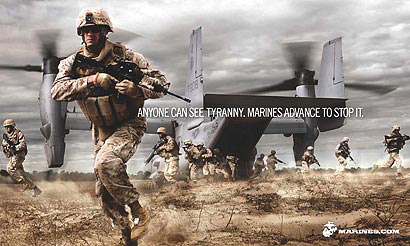USMC recruiting campaign - makeup by Mary Erickson